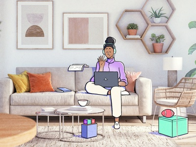Tech at Home 2 art colour design style illustration drawing