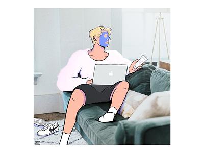 Face mask Friday fashion paris colour style design illustration drawing