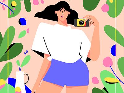 Snap ! Plants fashion paris colour design style illustration drawing