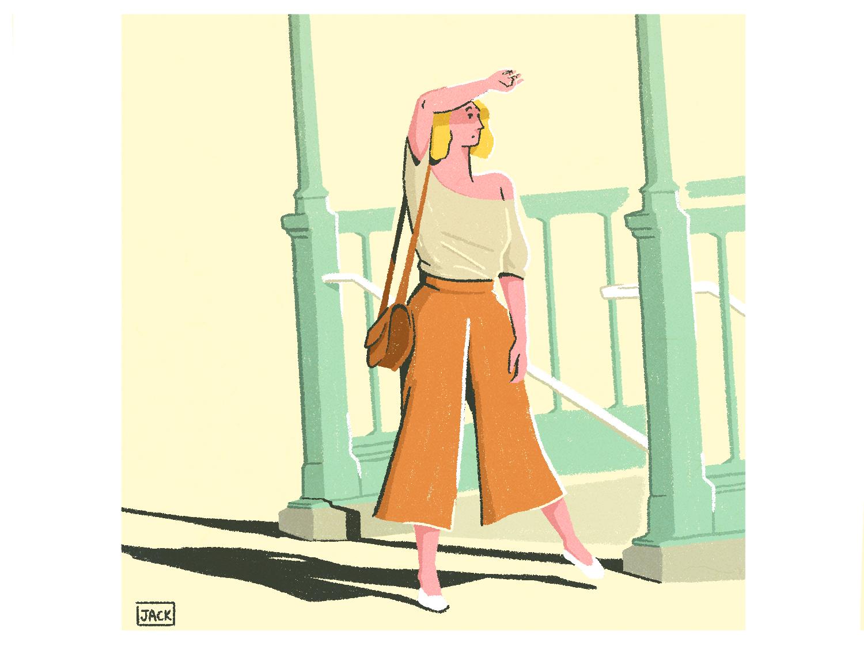 À la sortie du métro black art photography fashion paris colour design style illustration drawing