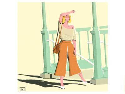 À la sortie du métro