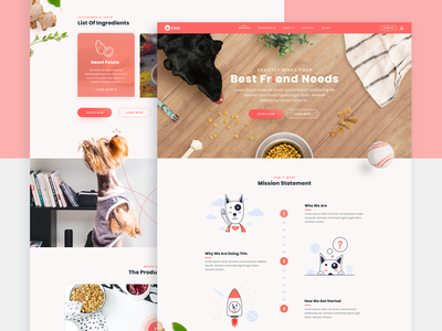 Dog food website