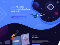 Homepage design for Technology agency