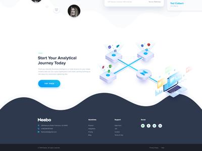 Footer Data Analytics Agency Website