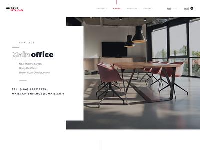 Contact us section office design contact us location minimal illustration website web flat ux ui design branding