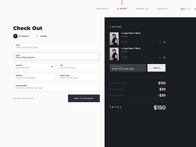 Checkout Page checkout process shopping cart payment checkout clean minimal illustration website web flat ux ui design branding