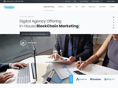 Marketing Analyst Agency Homepage agency marketing analyst 2d art minimal homepage design website web illustration ux ui design branding