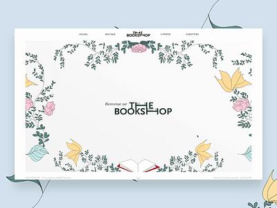 The Book Shop website book bookshop ux webdesign back end front end design ui uidesign