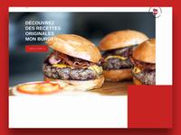 Mon Burger design website