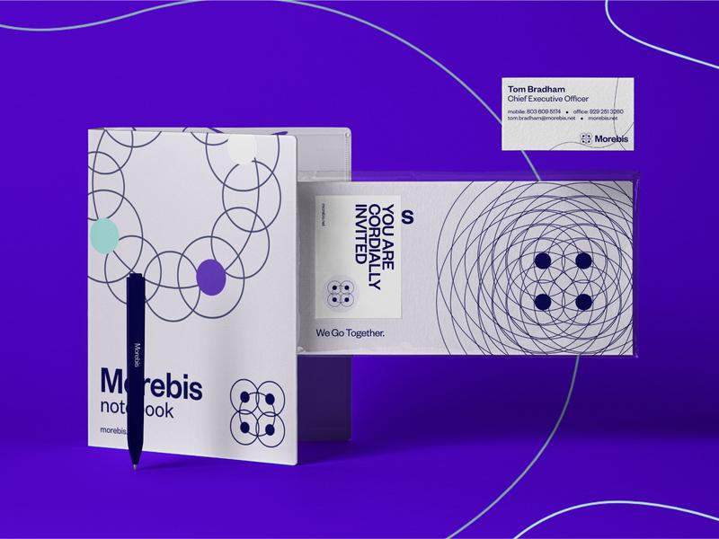 Morebis Notebook, invitation, Business Card, Pen