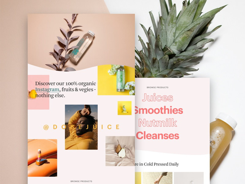 """Dose"" – Website Preview"
