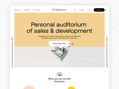 Devtorium Brand Website Concept