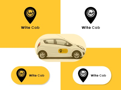 Wito Cab Logo Design 2021 logo design vector adobe advertisment ads design creative design lookbook design logoinspirations logoinspire logoidea logoideas logoinspiration logos logodesign logotype logo
