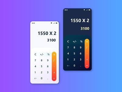 Calculator Design Dailyui Challenge 004 behance adobe xd calculator appdesign ui
