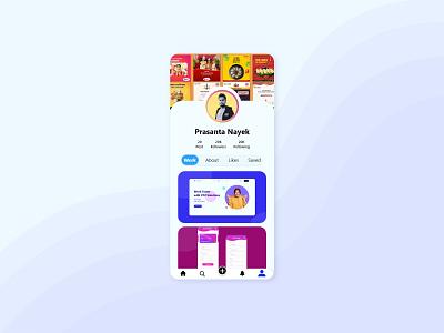 User Profile - DailyUi Challenge 006 ui design ux design uiux design user ui user profile appdesign