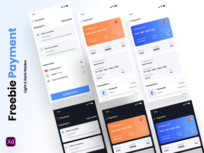 Freebie Payment & Checkout Screens free checkout ux ui app payment
