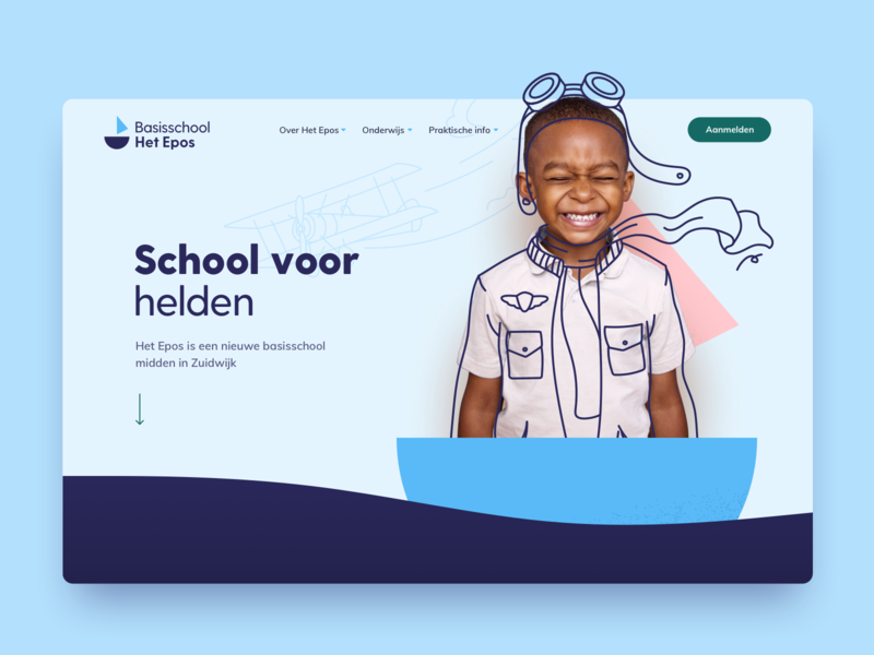 Het Epos header colorful children doodle drawing photography illustration kids education primary school header website