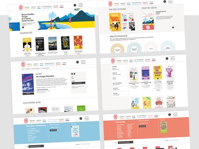 Digital visual identity - J'ai lu publishing édition publishing webdesign artistic direction book ux ui culture typography branding