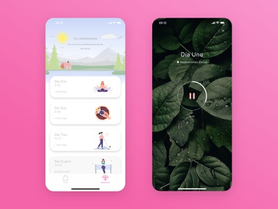 Meditation Mindfulness App brain app ios mobile ui meditation app calmness mindfulness meditation
