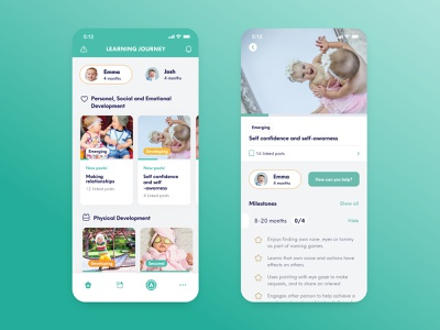 Onoco — More Than A Baby Tracker development baby growth tracker baby tracker onoco mobile ui mobile