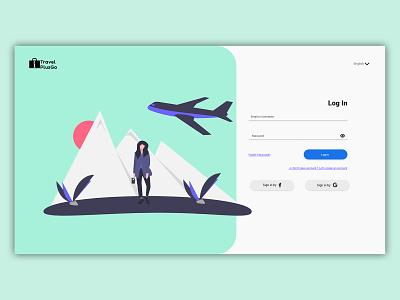 Login page for travel agency. Web UI design mobile uiux web ui ux ui