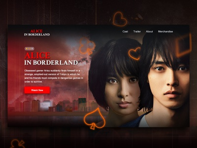 Movie Header Concept daily ui uiux uidesign netflix movie photoshop dailyui ui webdesign web