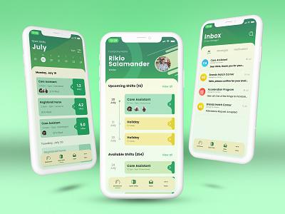 Worker App dailyui uiux simple task employee worker graphic design ui
