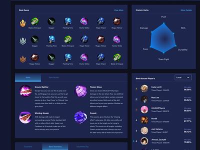 Mobile Legends Exploration simple cool design website exploration website design dailyui ux ui uiux games dark theme dark ui dark layout web design