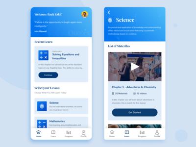 Learn App UI Exploration