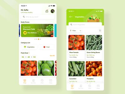 UI Exploration for Grocery App simple uiux mobile dailyui grocery app groceries food app clean ios uidesign ui healthy
