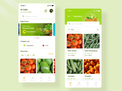 UI Exploration for Grocery App