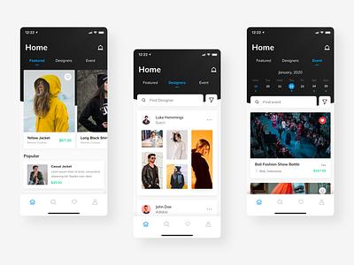 Fashion Marketplace Exploration fashion ux simple ui uiux mobile dailyui clean ios app