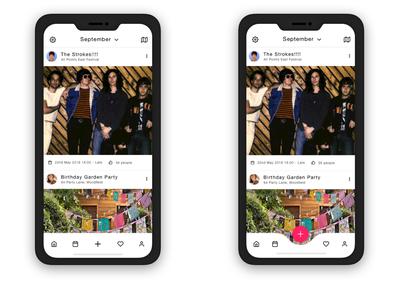 Events App iOS design concept