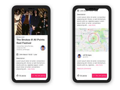 Events App Detail iOS Concept