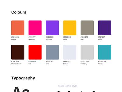 UI-Styleguides exploration font family typogaphy color palette colors symbol concept minimal clean visual brand exploration visual brand exploration ui stylesheet styleguide style