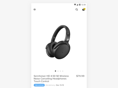 Product Detail Page simple clean interface minimal ux design concept design buy now guarantee return compare add to watchlist add to cart specs width color delivery status free shipping product ecommerce product detail page product page headphones