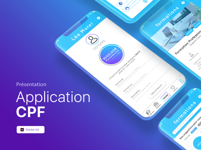Application Mon Compte Formation branding illustration ui ux education formation cpf mobile design mobile ux design ux ui ui design design