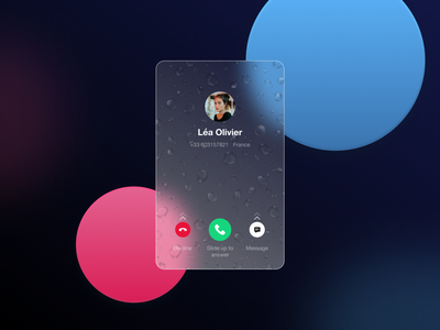 Glassmorphism with water effects effect glass effect water effect water glassmorphism glass mobile design mobile phone ui card card illustration ux design ux ui design ui design