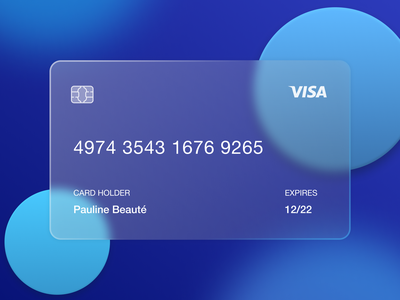 Glass Card Design credit card card design card trend design trend glassy glass effect glassmorphism effect glass ux design ux ui design ui design