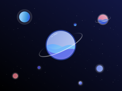 Fluid planets planet stars galaxy waalaxy illustrator illustration vector space planets graphism design ui