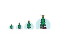 Responsive Christmas Tree Icon