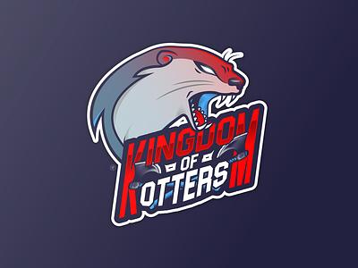 KINGDOM OF OTTERS character ax vikings logo design otters dribbble design logo vector