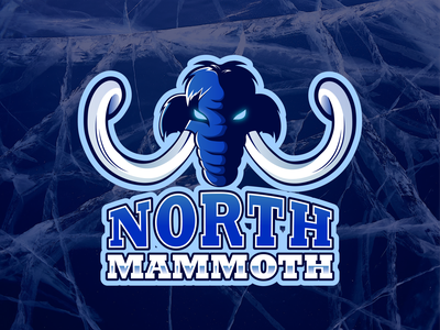north mammoth trunk tusks twitch logo twitch sport aggressive winter frost cold mammoth north typography design ocean debut dribbble