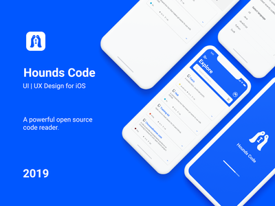 Hounds Code app | UI UX Design ui ux design android ios ui mobile app design developers front-end github ux ui design xd prototyping wireframing sketching ui design ux design sketch app