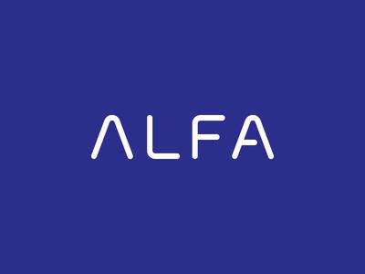Alfa Custom logotype mark alpha a construction typography modern simple wordmark alfa logotype logo