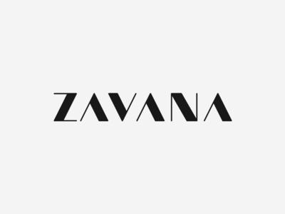 Zavana logotype serif sharp simple type word lettering custom typography wordmark logotype logo