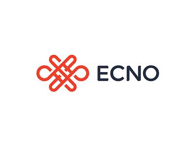 Ecno geometry lines overlap knot endless mark echo symbol identity logo