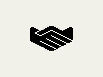 Partnership logo symbolic simple modern agreement deal cooperation partnership handshake symbol mark
