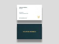 Vesper Homes - Business Card Proposal