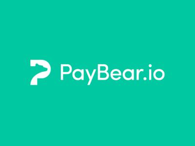 PayBear.io - Logo Design bitcoin mark symbol logo finance service payment currency crypto platform bear pay